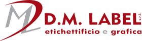 DM Label etichette adesive Logo
